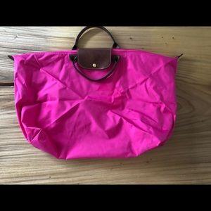 Longchamp xl pliage tote pink nylon